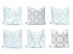 15% Off Sale Aqua Pillow Covers Decorative by CompanyTwentySix