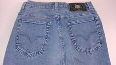 #Versace Couture Jeans Womens Fits 0/2 High Waist 27 x 31 Actual http://etsy.me/1KzyXQI #etsy #vintage #momjeans #vintagejeans