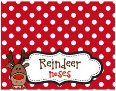Reindeer Noses Treat Bag Toppers - Lovely Living - Love ...