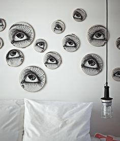 Hotel the Exchange, Amsterdam.  Creepy!  Can you imagine sleeping with those on the wall?