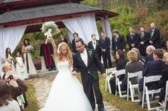 Fall Wedding at Dara's Garden