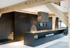 Generaal Urquhartlaan 43 Oosterbeek, The Netherlands modern kitchen Kitchen Inspirations, House Design, Interior Design, House Interior, Kitchen Interior, Home, Interior, Black Kitchens, Kitchen Remodel