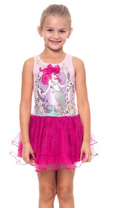 Princess Ariel The Mermaid Girls Tutu Tank Dress