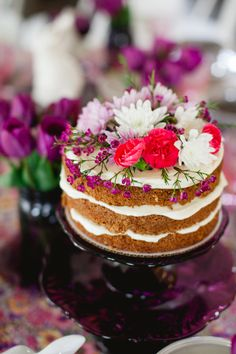 From Scratch Carrot Cake | naked cake recipes | homemade carrot cake | carrot cake recipe | best carrot cake recipe | moist carrot cake recipe || JennyCookies.com #bestcarrotcake #nakecake #carrotcake