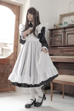 Maid Cosplay, Lolita Cosplay, Cosplay Outfits, Cosplay Girls, Cute Asian Girls, Cute Girls, Maid Outfit Anime, Victorian Maid, Japonese Girl