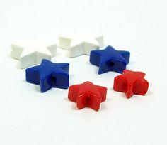 Patriotic Stars  Red White and Blue Handmade by BarbiesBest, $5.00