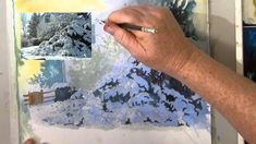 Painting snow scenes is explained - anyone can do it. Painting Snow in Watercolor (+playlist)