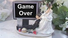 Wedding Cake Topper Computer - GameOver | eBay