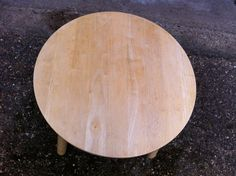 Old children's pine table before painting and decorating
