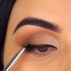 Eyebrow Makeup Tips, Eye Makeup Steps, Natural Eye Makeup, Glamorous Makeup, Gorgeous Makeup, Makeup Trends, Makeup Inspo, Simple Makeup, Easy Makeup