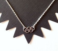 Olympic Rings Silver Necklace, London 2012, handmade jewelry. $18.00, via Etsy.