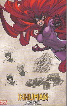 Inhuman Medusa lithograph by Joe Madureira