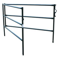 Portable Horse Corral - Single panel shown partly unfolded.  You and your horse will appreciate the superior powder coated steel construction and simple thoughtful design. When you get to your destination you'll also appreciate how quickly and easily you can set-up this freestanding horse corral. You won't need any tools and there are no fiddly parts to worry about. | http://hi-hog.com/trailer-panels-panel-overview/#
