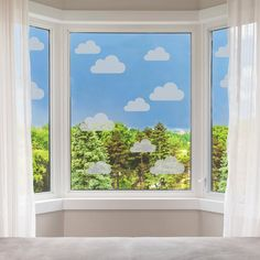 Frosted Cloud Window Stickers  Clouds Privacy Glass Stickers image 0 Window Stickers Privacy, Window Decals, Wall Stickers Silver, Vinyl Wall Stickers, Ikea Picture Ledge, Stick On Mirror, Tree Decals, Paint Types, Smooth Walls