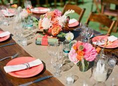 Decoración en coral para tu #boda