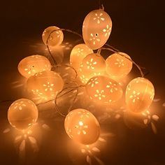 Easter 10Ft 30LED String Egg Lights Party Charistmas Halloween Decor Home Garden Yard Decoration
