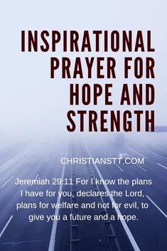Inspirational Prayer for Hope and Strength