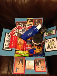 Workout Care Package that I made for Austin #2!