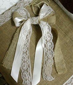 I can make these burlap and lace bows.