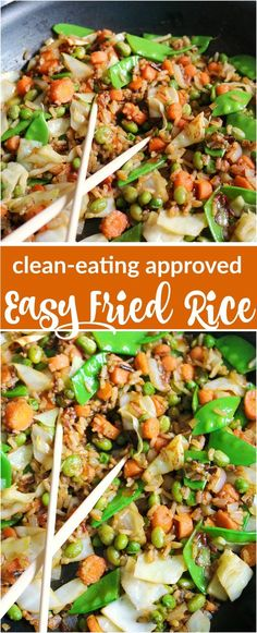 Easy Fried Rice- Clean Eating Approved