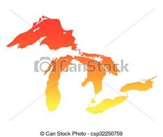 Vector - Map of Great Lakes - stock illustration, royalty free illustrations, stock clip art icon, stock clipart icons, logo, line art, EPS picture, pictures, graphic, graphics, drawing, drawings, vector image, artwork, EPS vector art