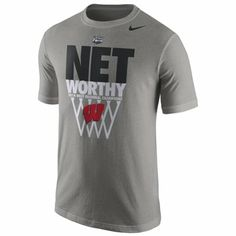 Nike Wisconsin Badgers 2014 Men's Basketball Tournament West Regional Champions Locker Room T-Shirt - Gray