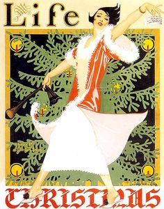 "Coles Phillips ""There Is A Santa Claus"" Life Magazine Christmas Issue, 1926"