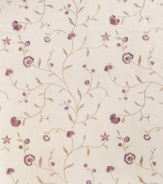 Home Decor Print Fabric-Richloom Studio Roses-Plum Floral/Foliage