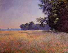 Claude Monet - Oat and Poppy Field, Giverny (1890)