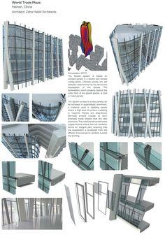 Portfolio | World Trade Plaza, Hainan Technical Architecture, Facade Architecture, Surface Modeling, Window Glazing, Construction Drawings, Arch Model, Parametric Design, Zaha Hadid Architects, Floating House