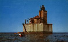 Port Austin Reef Lighthouse, Port Austin, Michigan.....where I grew up in my teens..