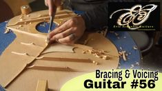Bracing and Voicing the Soundboard on Guitar #56 - YouTube