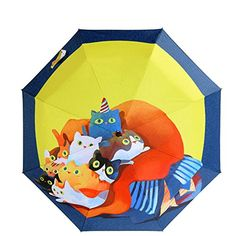 21 Light RainSun Printing Umbrella Lazy Cats Travel Umbrella With UV CoatingUPF 40 >>> You can find out more details at the link of the image. (Note:Amazon affiliate link)