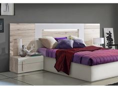 Cabecero y dos mesillas Turín Bed, Furniture, Home Decor, Cheap Headboards, Cheap Furniture, Bedroom Modern, Bedside Tables, Houses, Headboards