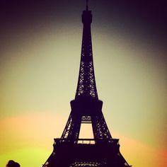 Eiffel Tower against a beautiful sunset! Paris 2014