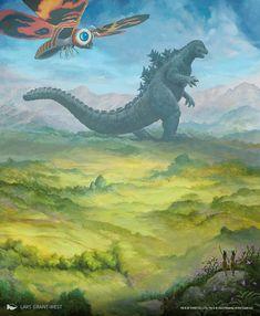 Transformers, All Godzilla Monsters, Godzilla Comics, King Kong Vs Godzilla, Godzilla Wallpaper, Mtg Art, Magic The Gathering, Digimon, Fantasy Art
