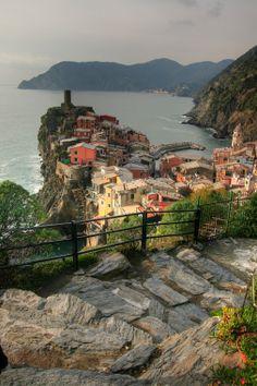 Cinque Terre is a rugged portion of coast on the Italian Riviera  Rishu rifu - Google+