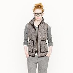Excursion quilted vest in herringbone @ JCrew.....it's already sold out:(  Must find!