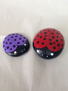 A personal favorite from my Etsy shop https://www.etsy.com/listing/222256562/hand-painted-red-and-purple-ladybug
