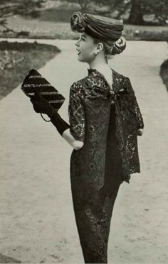 1956 Madeleine de Rauch It is not possible for this to be any more darling! Women's vintage fashion photography photo image