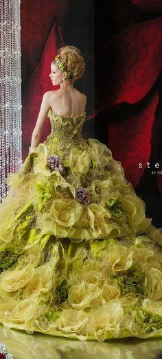 Amazing Stella de Libero Wedding Dresses 2014 2015 - Be Modish Wedding Dresses 2014, Colored Wedding Dresses, Beautiful Gowns, Beautiful Outfits, Fairytale Gown, Fantasy Dress, Quinceanera Dresses, Dream Dress, Pretty Dresses
