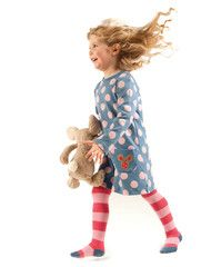Gorgeous Frugi spotty tunic dress, with handy pockets for storing all those essentials that girls like to carry.  Cute mouse embroidery on pocket. 100% organic cotton, for comfort.Was £23.95. Now £17.95.