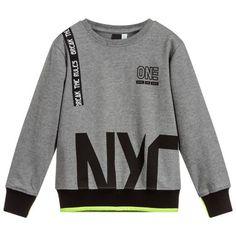 Boys Grey Cotton Sweatshirt for Boy by iDO Junior. Discover the latest designer Tops for kids online Boys Hoodies, Boys T Shirts, Mens Sweatshirts, Blazer For Boys, Shirt Print Design, Kids Fashion Boy, Boys Sweaters, Boy Outfits, Pullover