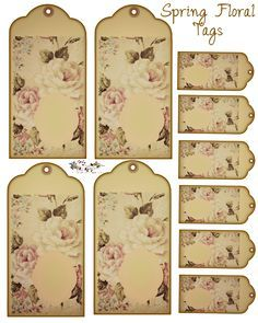 Free Floral Tags
