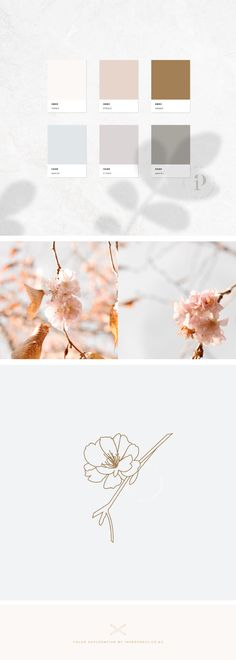 This week I've been inspired by the cherry blossom trees that line my driveway. What is so weird is that some of the trees still have tiny little pink blossoms hidden amongst the orangey brown autumn leaves! It's like two seasons in one. I would LOVE to create a new brand identity with this colour palette, if you're in the market for a new brand identity and think this board would be the perfect fit, flick me an email I would love to make it work for you!