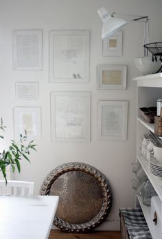 Framed recipes.  So love this idea. should do that with favourites from my Mom.