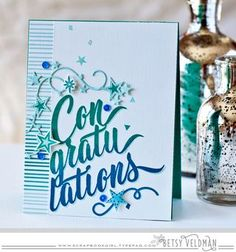 Congratulations Card by Betsy Veldman for Papertrey Ink (March 2016)
