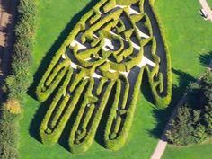 Swarowski Maze, Wattens, Austria  Nice shot revealing the heart shape inside the hand.