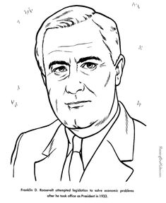 free printable president franklin d roosevelt facts and coloring picture