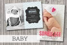 Hurry! ends soon! All baby invitations and photo birth announcements are discounted 30%! use coupon code: BABY0615